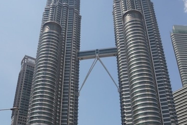 The gleaming Petronus Towers are the showpiece of Kuala Lumpur
