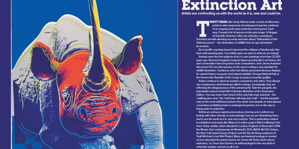 Extinction Art Spread