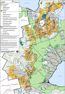 Proposed Greenbelt Expansion Study Area - Streams and Water Map