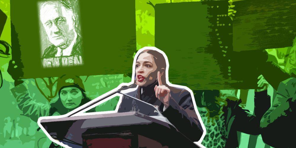 Alexandria Ocasio-Cortez, a key proponent of a New Green Deal