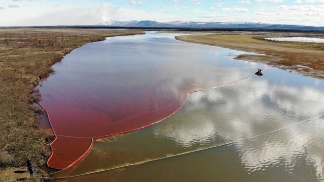 Oil Spill in Siberia